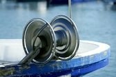 Fishing winch for professional fisherman boats — Stock Photo