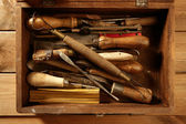 Srtist hand tools for handcraft works — Stock Photo