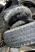 Vehicle tyres recycle ecological factory waste environment indus — Stock Photo
