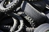 Pneumatics tyres recycle ecology industry — Stock Photo