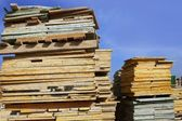 Formwork shuttering wood board stacked — Stock Photo