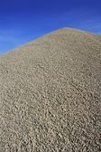 Gray gravel mound mountain concrete making — Stock Photo