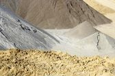 Colorful construction sand mound quarry variety — Stock Photo