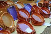 Clay pottery shop market traditional handcraft — Stock Photo