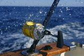 Big game obat fishing in deep sea — Stock Photo