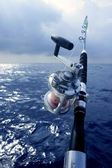 Big game boat fishing in deep sea — Stock Photo