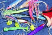 Big game fishing lures hook for tuna marlin — Stock Photo