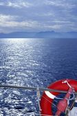 Bue ocean sea view from boat — Stock Photo