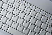 Dator bärbar dator keywboard närbild makro — Stockfoto