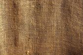 Burlap sack vegetal brown texture background — Stock Photo