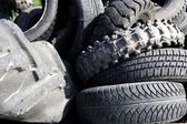 Vehicle tyres tires recycle ecology environment industry — Stock Photo