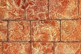 On-site printed concrete cement pavement texture — Stock Photo