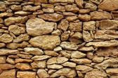 Stone masonry detail on balearic islands — Stock Photo