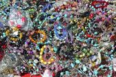 Colorful jewelry pattern texture macro many colors — Stock Photo
