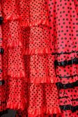 Gipsy red spots dress texture background — Stock Photo
