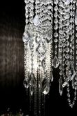 Crystal strass lamp white over black background — Foto Stock