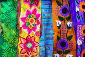 Colorful Mexican serape fabric handcrafted — Stock Photo