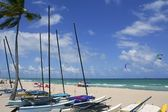 Fort Lauderdale catamaran beach Florida — Stock Photo