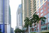 Miami downtown city with colorful buildings — Stock Photo
