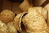 African traditional handcraft round baskets — Stock Photo