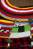 African ethnic colorful jewellery necklaces — Stock Photo