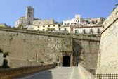 Ibiza castle from balearic islands in Spain — Stock Photo