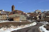 Snow village Teruel Province Spain San Agustin — Stock Photo