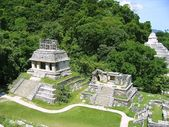 Palenque mayan ruins maya Chiapas Mexico — Stock Photo