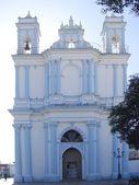 Blue church San Cristobal de las Casas Chiapas — Stock Photo