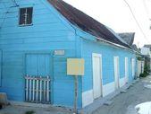 Blue house in caribbean island Quintana Roo — Stock Photo