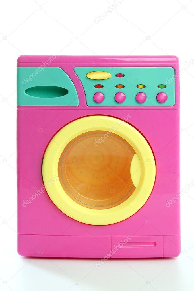 bunte rosa gelbe kleidung spielzeug waschmaschine stockfoto lunamarina 5504399. Black Bedroom Furniture Sets. Home Design Ideas