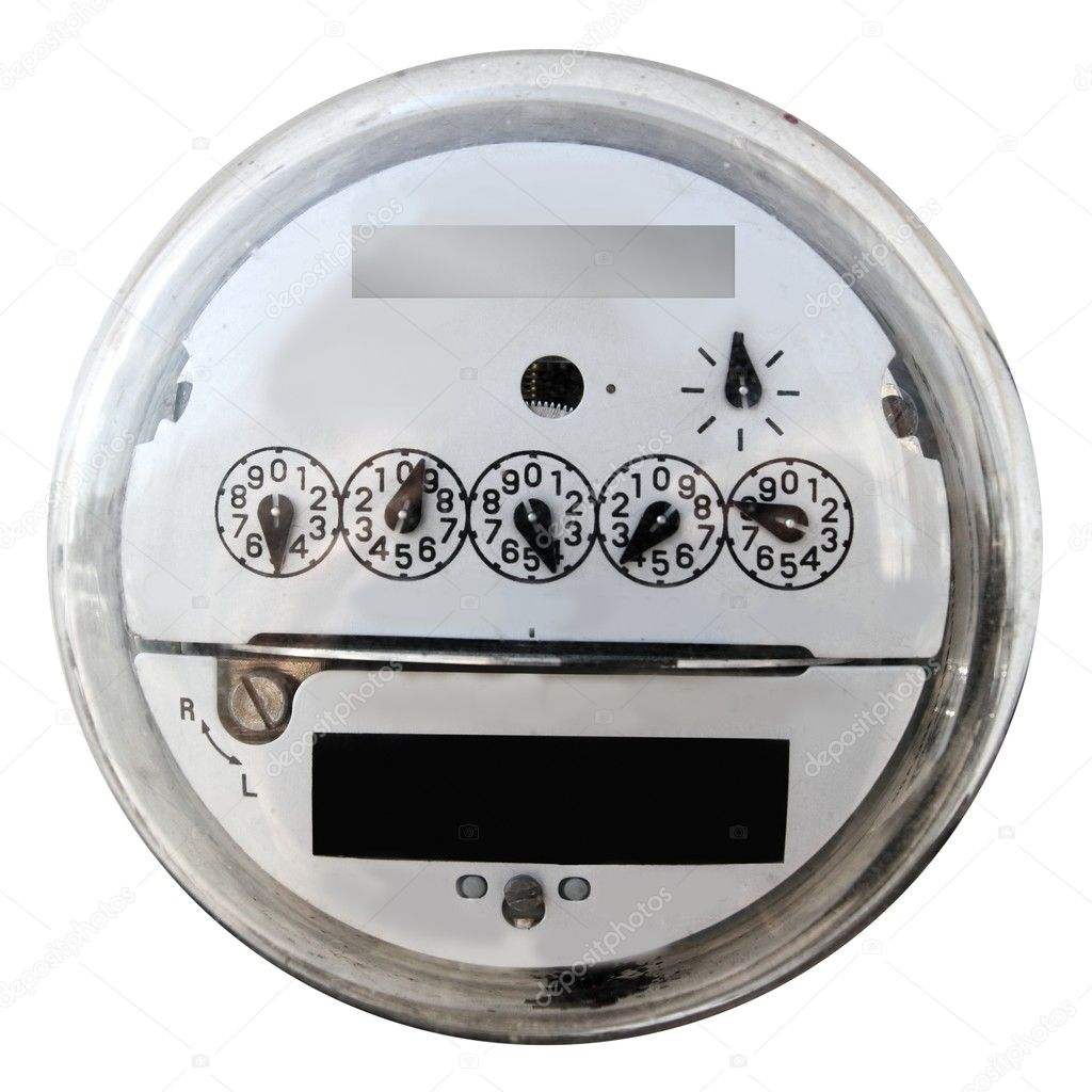 Analog electric meter display round with glass cover — Stock Photo #5505469