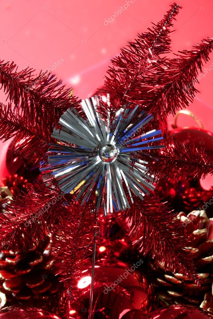 Christmas star, xtmas, red, celebration macro detail  Stock Photo #5505583