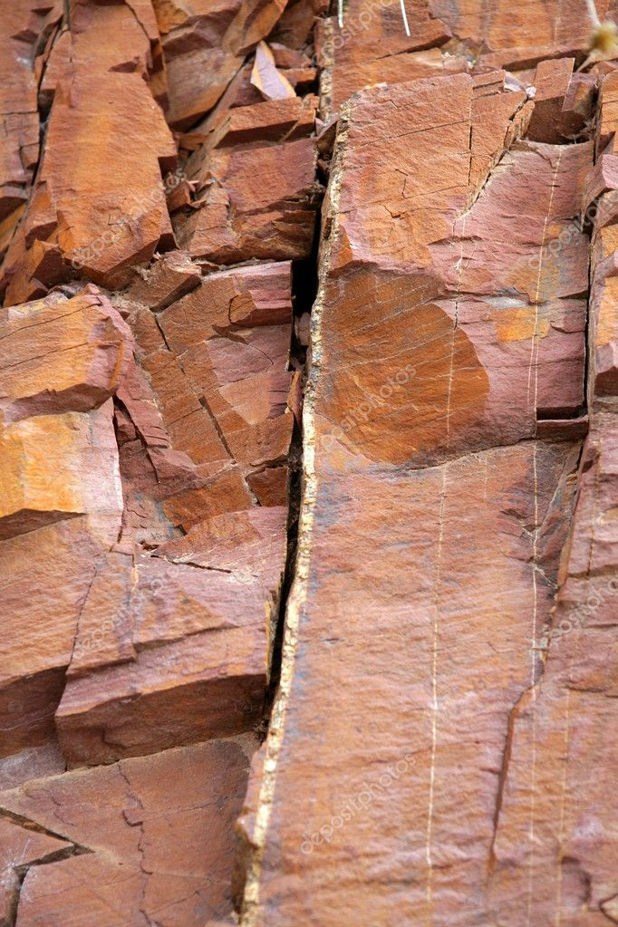 Red Natural Stones : Natural mountain with red rodeno stone — stock photo