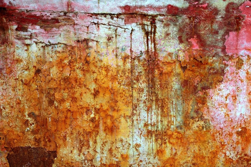 Rusty weathered painted iron aged metal texture background — Stock Photo #5508620