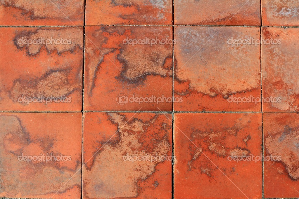 Clay Red Square Floor Tiles Soil Pattern Stock Photo Lunamarina
