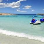 イレタス フォル メンテラ島ビーチ ターコイズ地中海 — ストック写真