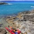 Escalo Formentera kayak mediterranean sea - Stock Photo