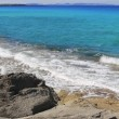 Escalo Formentera turquoise mediterranean sea - Stock Photo