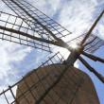 Balearic islands windmill wind mills Spain — Stock Photo #5510500