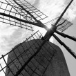 Stock Photo: Balearic islands windmill wind mills Spain