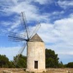 Balearic islands windmill wind mills Spain — Stock Photo #5510509
