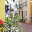 Moraira Teulada mediterranean village streets - Stock Photo
