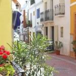 Moraira Teulada mediterranean village streets — Stock Photo
