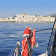 Stock Photo: AlteAlicante province Spain from seboat