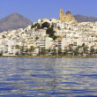 Altea Alicante province Spain view from blue sea - Stock Photo