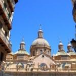 El Pilar Cathedral in Zaragoza city Spain — Stock Photo