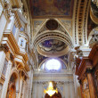 El Pilar Cathedral in Zaragoza city Spain indoor - Stock Photo