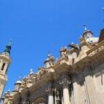 El Pilar Cathedral in Zaragoza city Spain outdoor — Stock Photo