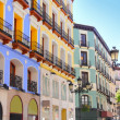 Zaragoza city Spain Alfonso I street coloful building — Stock Photo